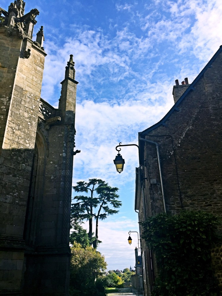 View of Saint-Malo church - Medieval town of Dinan