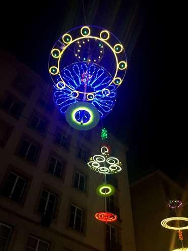 Detailed chrismas lighting - Winter in Geneva
