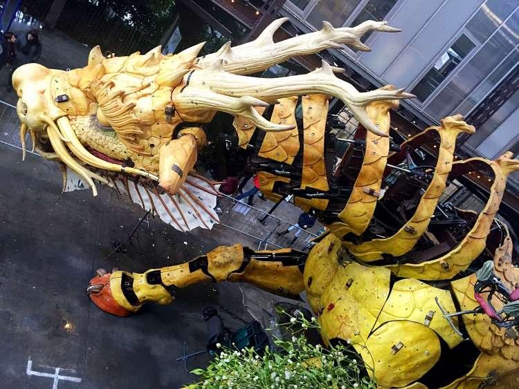 Mi-horse Mi-dragon sculpture at Machine de l'Ile, Nantes