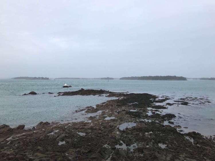 Coastal view of St Gildas de Rhuys