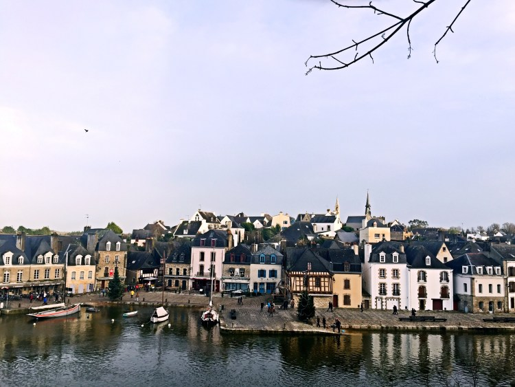 View of port of Saint-Goustan - Auray Brittany