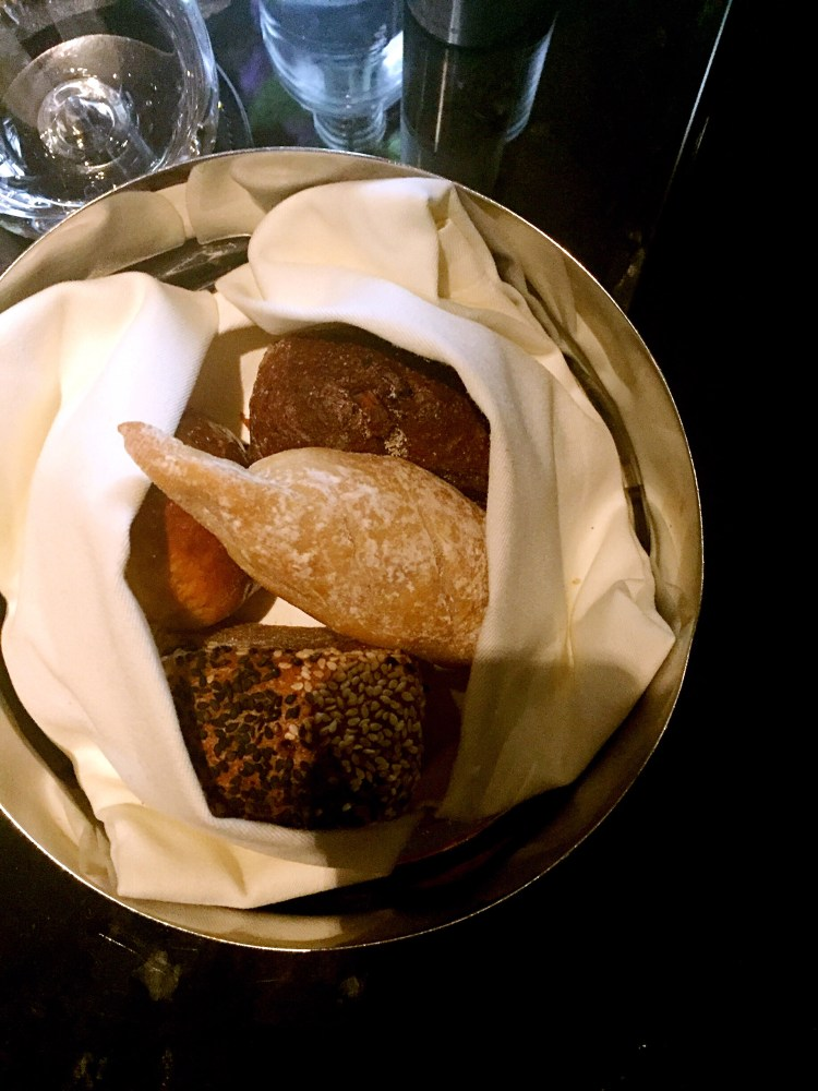 Bread basket at Ting, Shard - Ting Shard