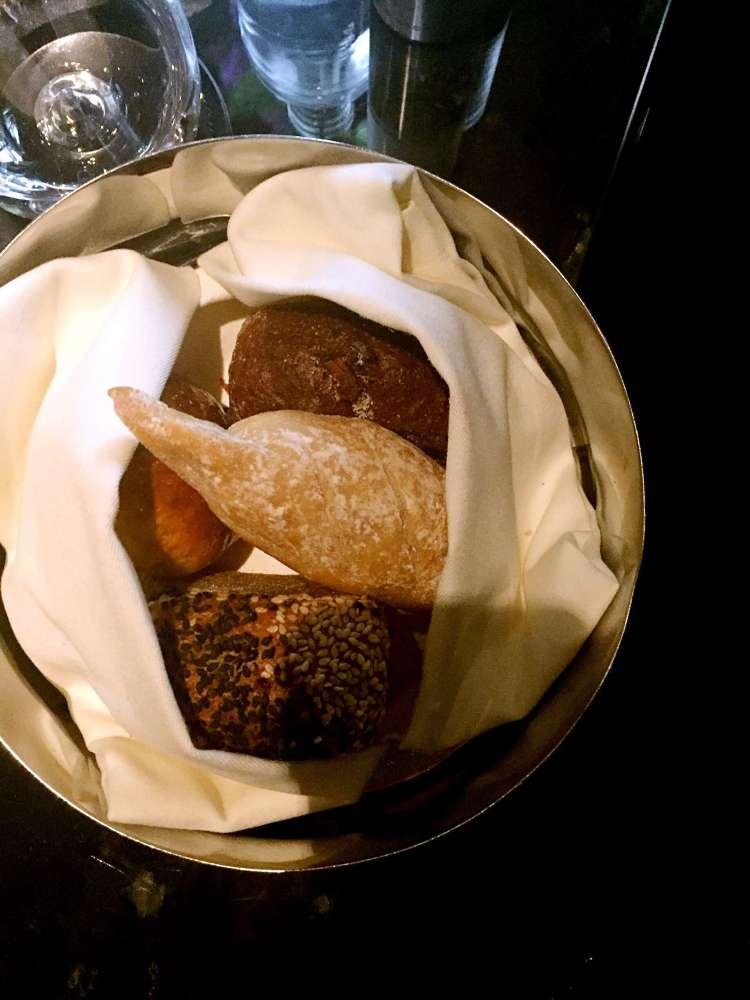 Bread basket at Ting, Shard - Ting Shard