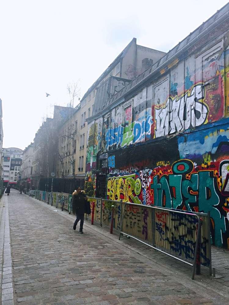 Rue Dénoyez street art - self-guided tour of Belleville and Ménilmontant