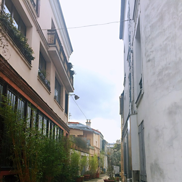 Alleyway Cité Leroy - Street art in Paris - self-guided tour of Belleville and Menilmontant