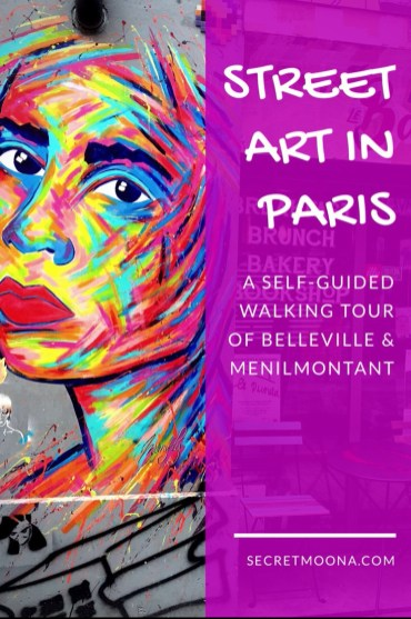 Street Art in Paris - self-guided tour of Belleville and Ménilmontant