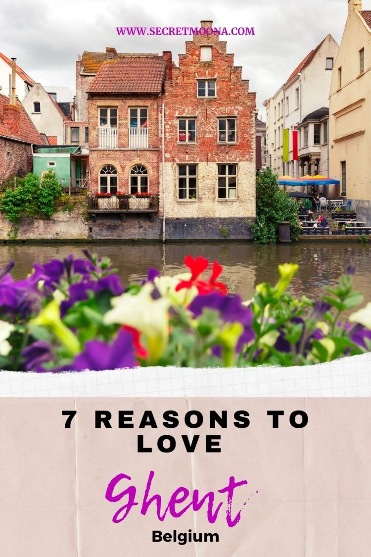 Considering visiting Ghent, Belgium, for a European city break? This beautiful, laid-back city is perfect for a day trip from Brussels: Flemish architecture, Belgian chocolate and waffles and lots of things to do and see. #ghent #belgium #belgiumtravel #travelguide #europeantravel