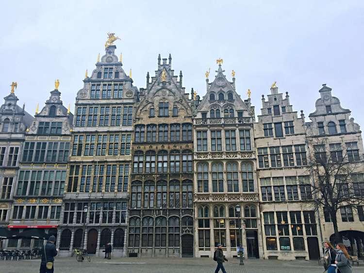Grote Markt medieval houses - 24 Hours in Antwerp