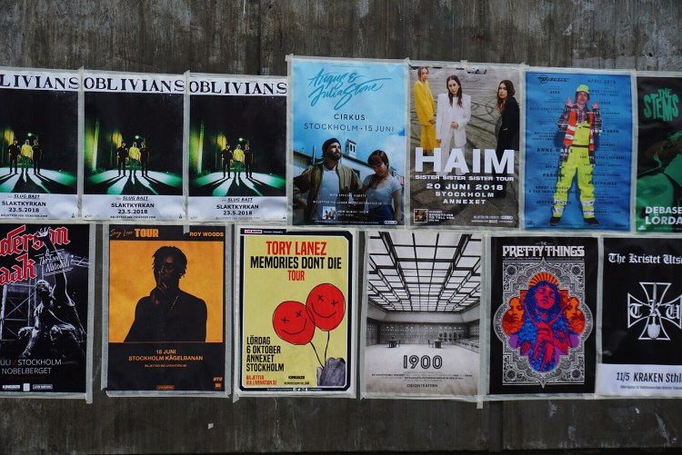 Posters in Hornstull - one day in Stockholm