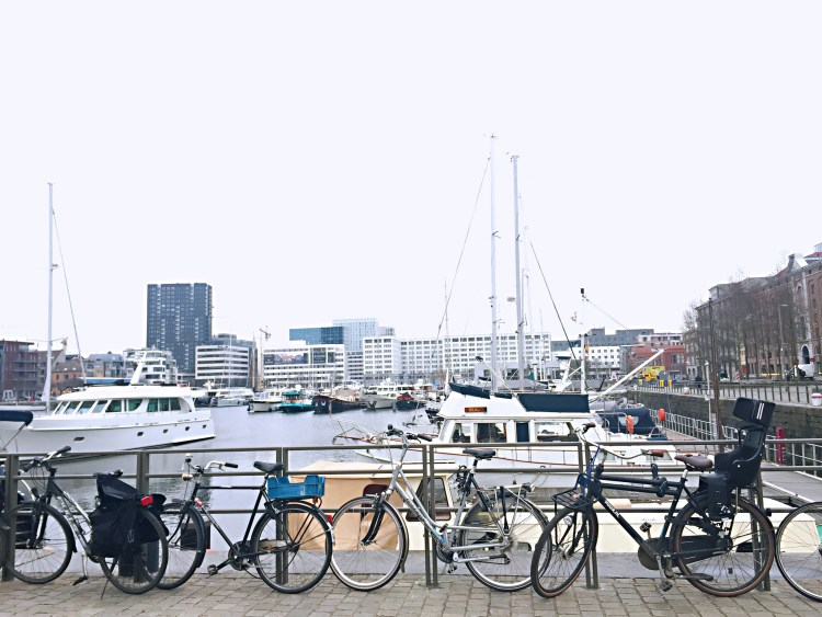 Bikes in Antwerp port - Belgium photo diary