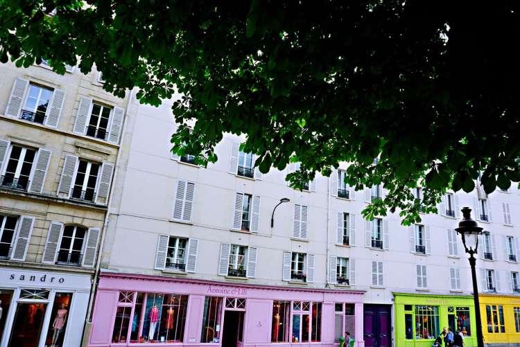 Colourful facade - Canal saint martin