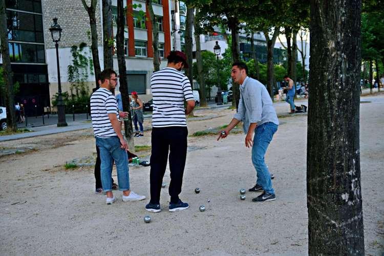 Petanque players - Canal saint martin