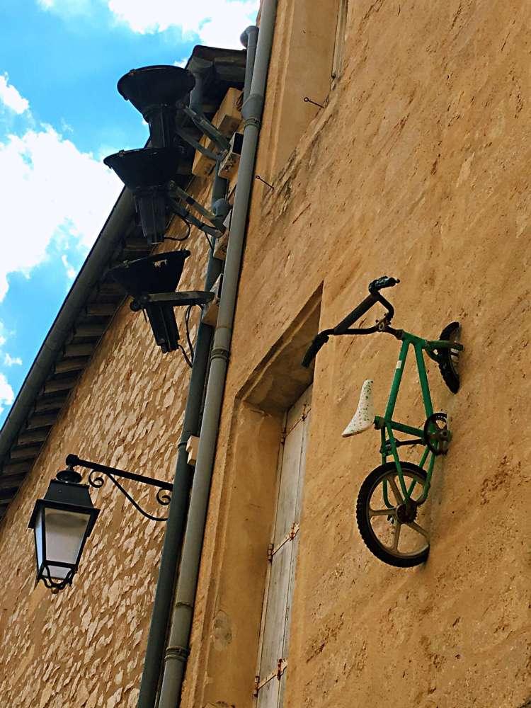 Green bike by Mr BMX - Street art Montpellier
