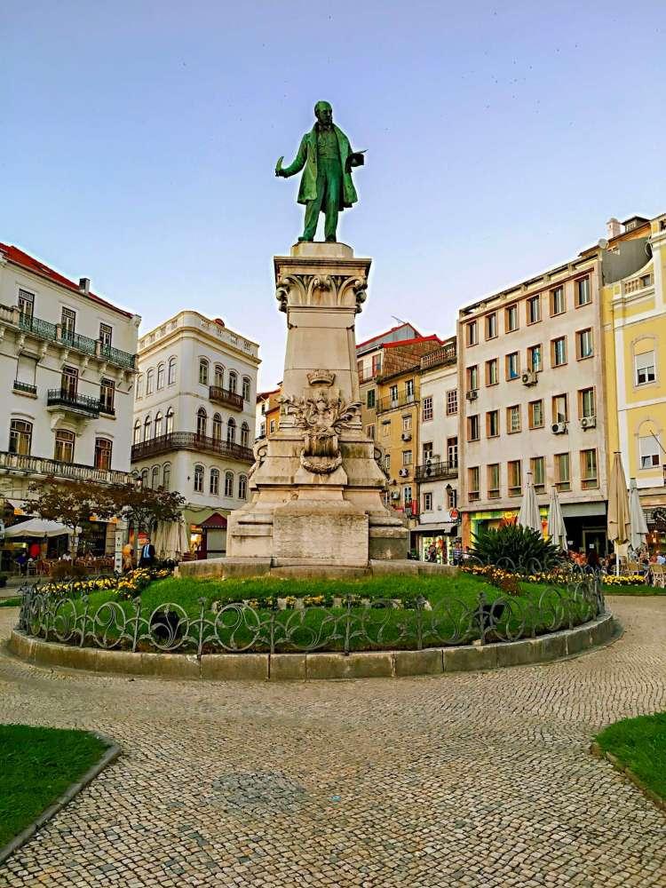 Largo da Portagem, the main square in Coimbra - one day in Coimbra