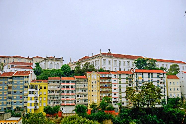 Beautiful colourful buildings city of Coimbra - One day in Coimbra