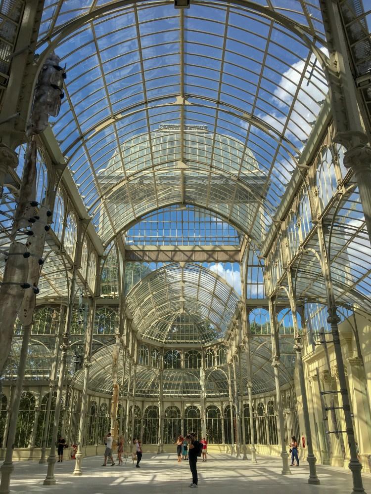 Inside of Palacio de Cristal - Weekend breaks in Madrid