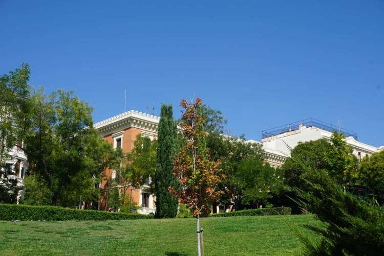 Park outside Prado Museum - Weekend breaks in Madrid