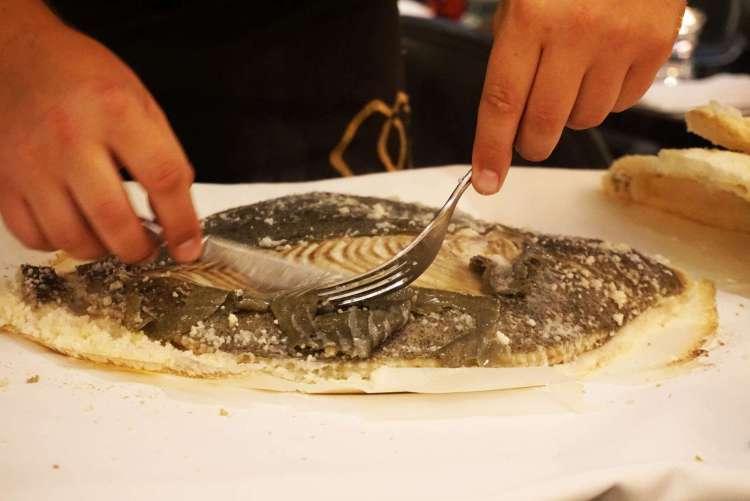 Preparing the fish - One week in Portugal