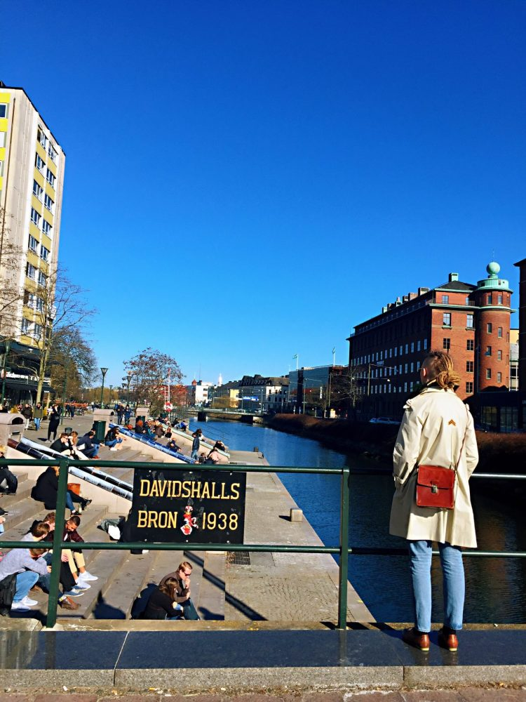 Girl with the red bag - Things to do in Malmö day trip