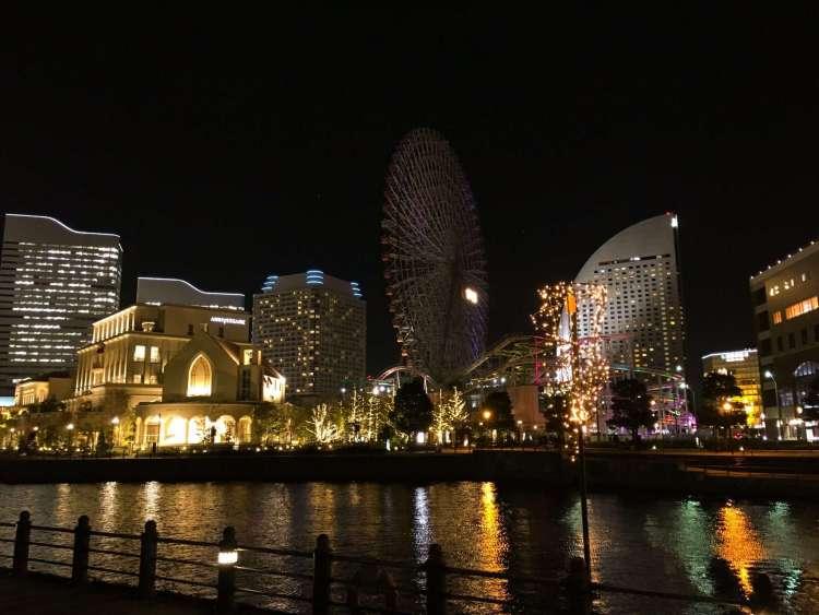 Cosmo World at night - Things to do in Yokohama