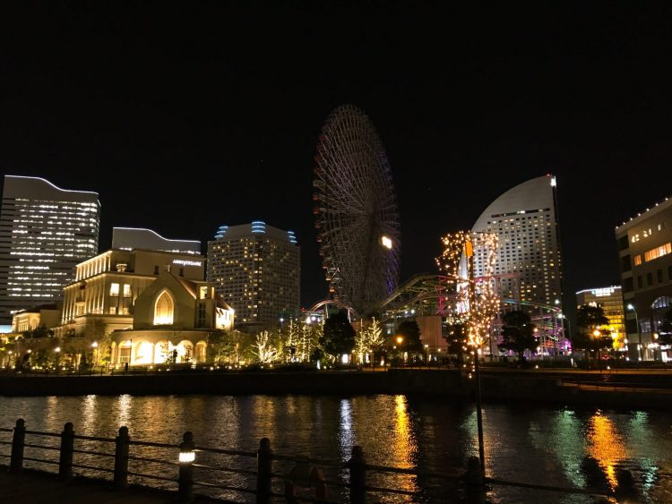Cosmo World at night - Things to do in Yokohama