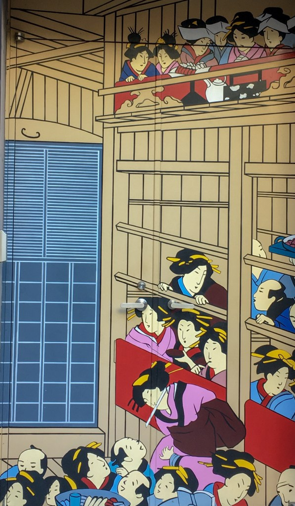 Things to do in Asakusa? Look at ukiyo-e in shop shutters