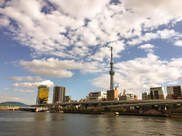 Things to do in Asakusa? Walk along Sumida River