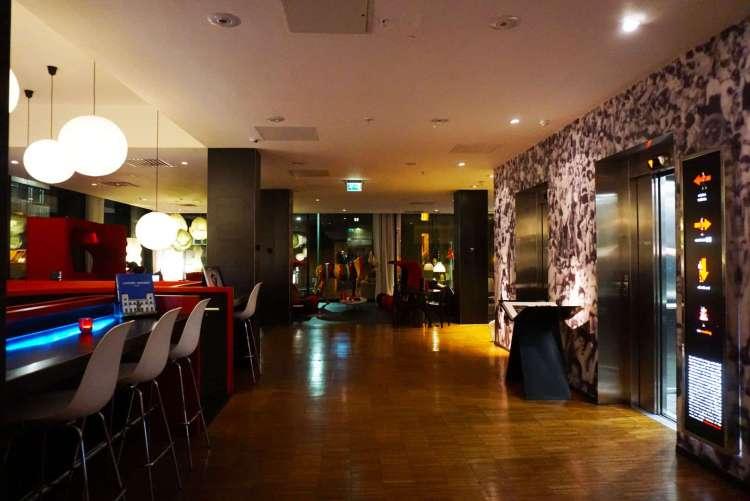 CitizenM hotel Glasgow bar lounge