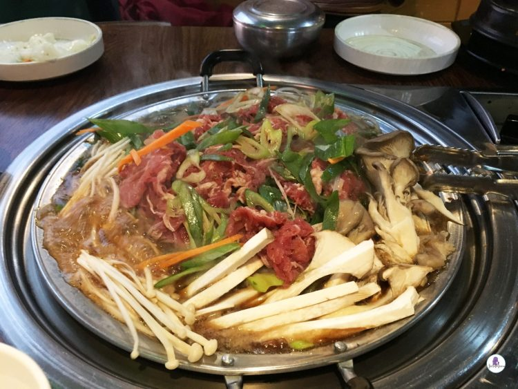 Korean Bulgogi in Myeong-dong