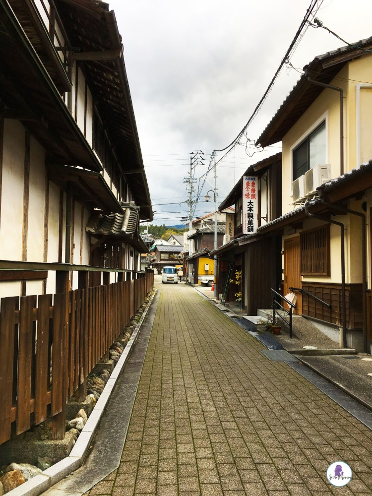 Typical street in Japanese countryside, Uchiko