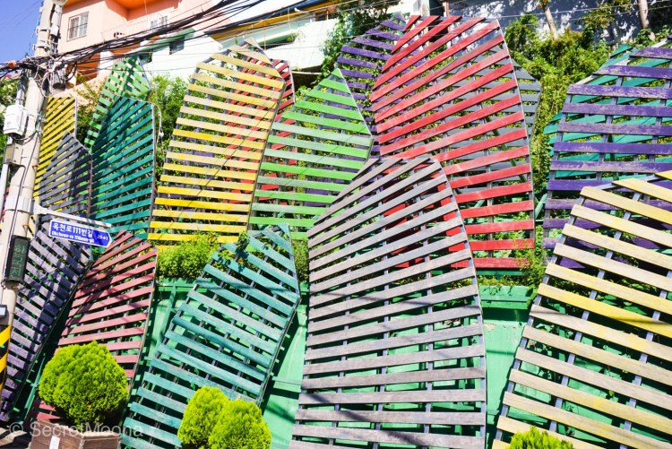 Wiggly Village by Jin Yeongseop - Gamcheon Culture Village