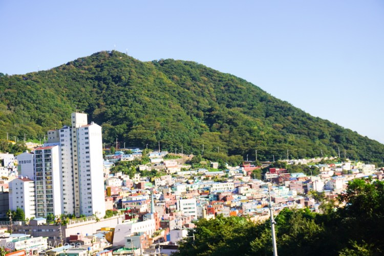 Enjoying different views of Gamcheon Culture Village, Busan