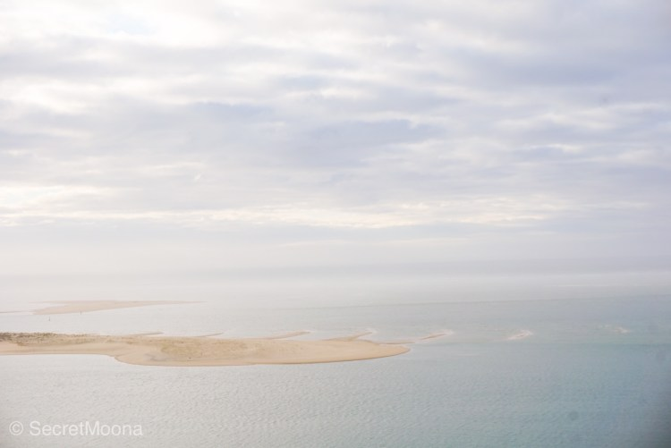 View of Atlantic Ocean and sandbank