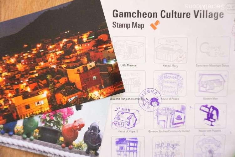Gamcheon Culture Village Stamp Map