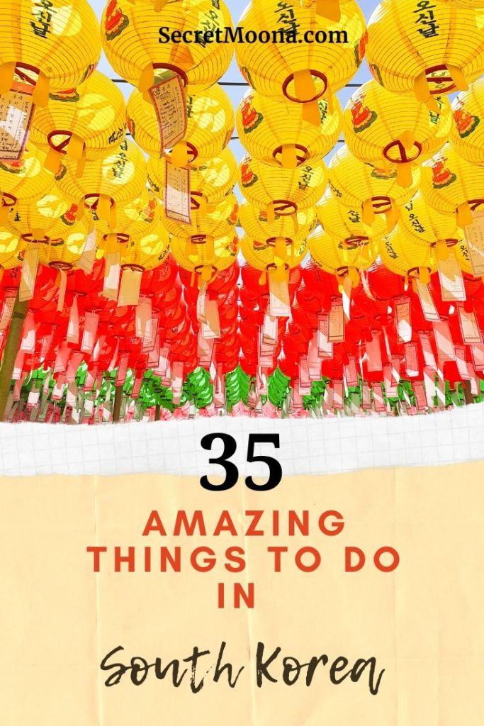 35 amazing things to do in South Korea. Looking for things to do in South Korea? I've compiled the ultimate South Korea bucket list full of adventures, cultural experiences, and must-see sights.