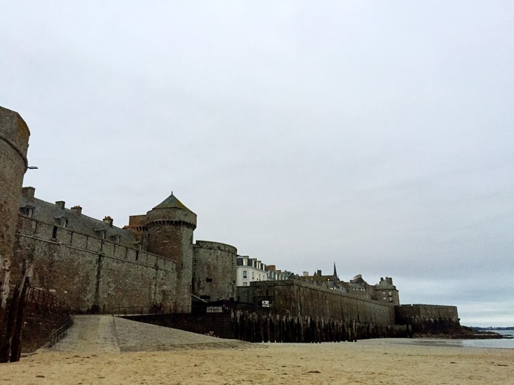 Saint Malo's fortified town.