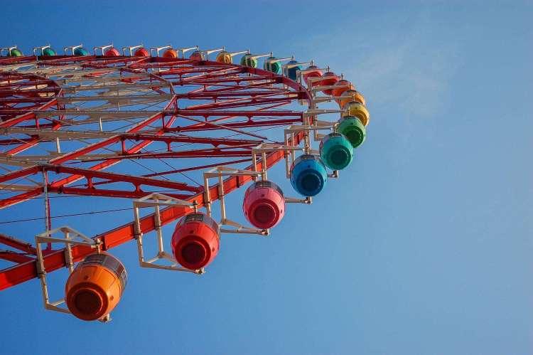 Colourful ferris wheel in Tokyo Odaiba