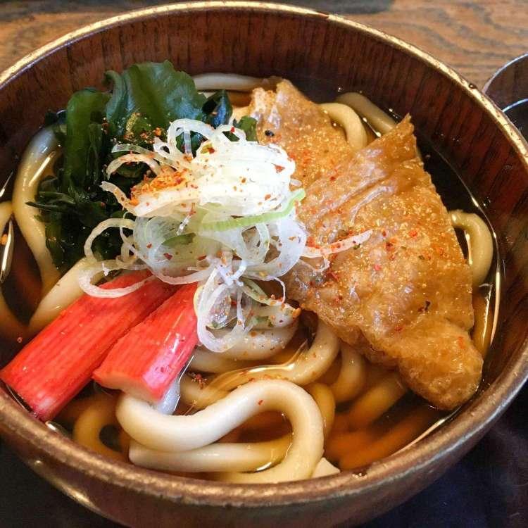 Kitsune udon, a popular Japanese food