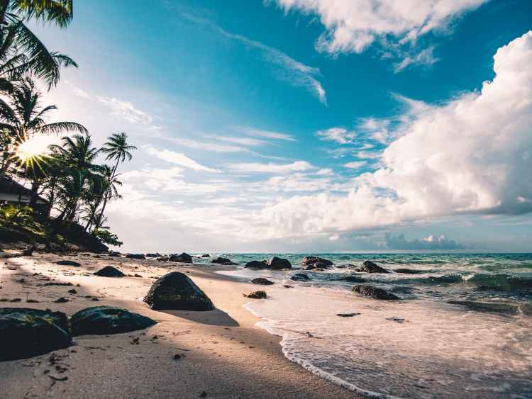 Rugged beach for relaxing holidays