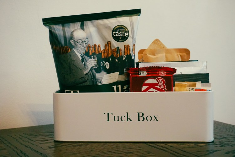 Tuck snack box at Kimpton Clocktower hotel