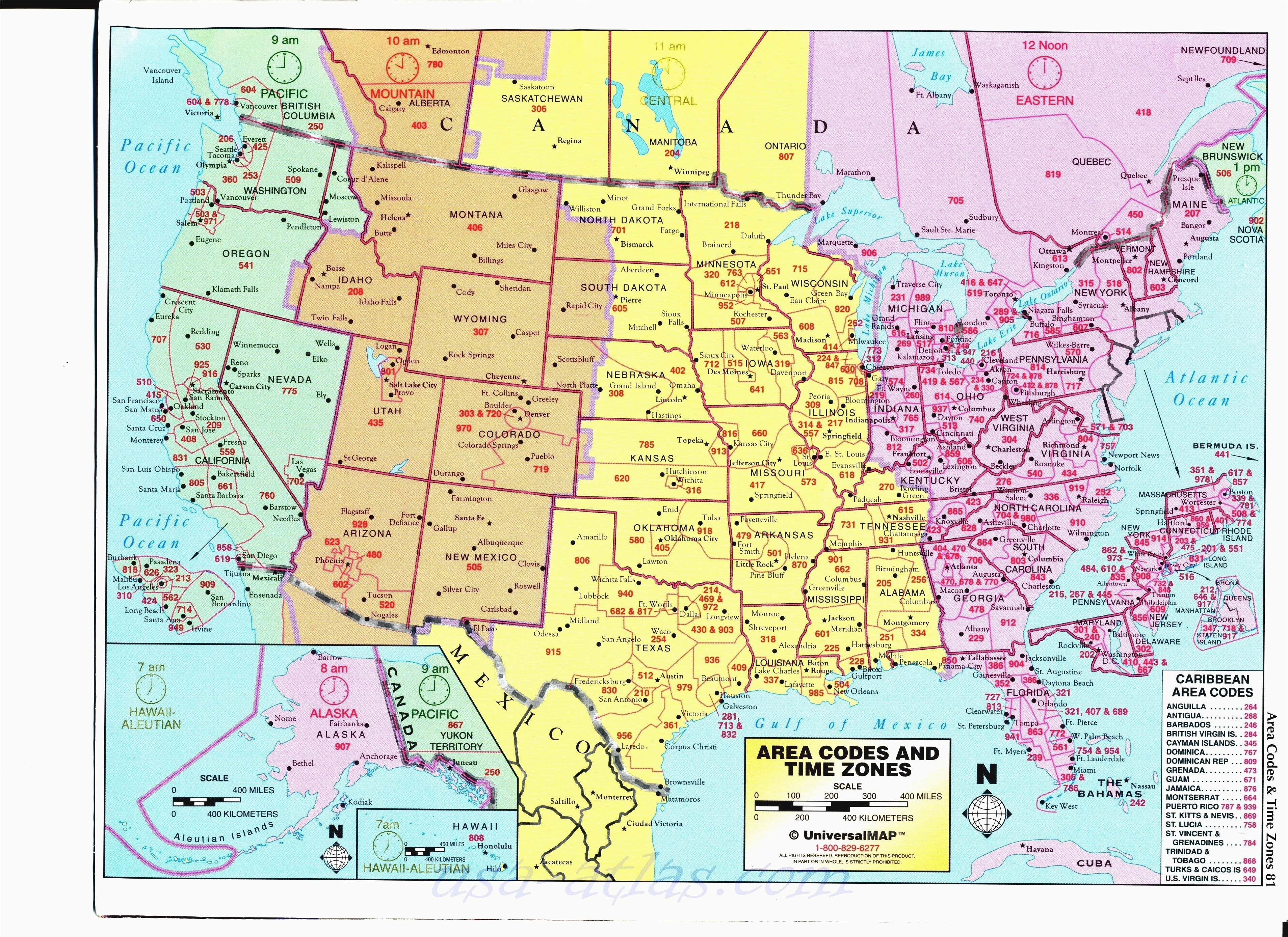 Time Zones Map Usa And Canada