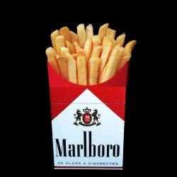 Selon une étude de l'Université Libre d'Anvers, les frites sont 12X plus cancérigènes que le tabac