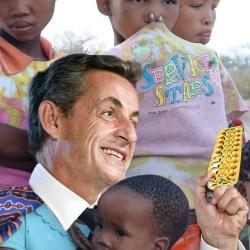 """Sarkozysur le réchauffement climatique : """"Il faut injecter des contraceptifs dans l'aide alimentaire pour l'Afrique"""""""