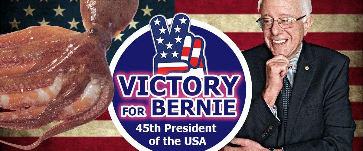 Paul-Le-Poulpe prédit la victoire de Bernie Sanders à l'élection présidentielle américaine