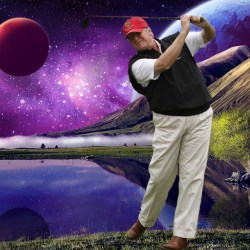 Trump achète une des 3 nouvelles planètes habitables pour y créer un terrain de golf