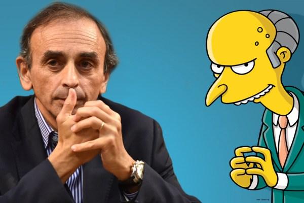 Cinéma : Eric Zemmour incarnera Mr Burns dans le prochain film Les Simpson