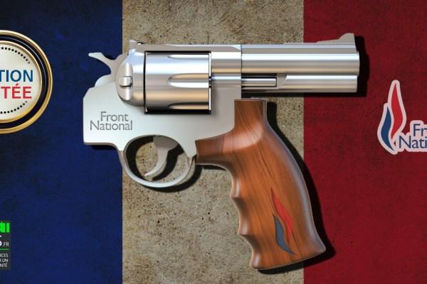 """Le fameux """"Revolver des Militants"""" en vente sur la boutique du Front National"""