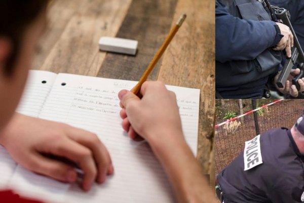 """Dans une dictée un enfant écrit """"Allah prochaine"""" au lieu de """"à la prochaine"""", la police l'interpelle pour apologie du terrorisme"""