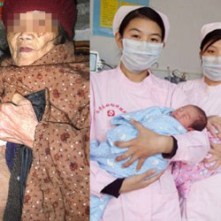 CHINE : Une femme de 98 ans donne naissance à des triplés en pleine santé - Elle n'en garde qu'un