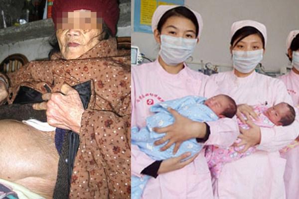 CHINE : Une femme de 98 ans donne naissance à des triplés en pleine santé – Elle n'en garde qu'un